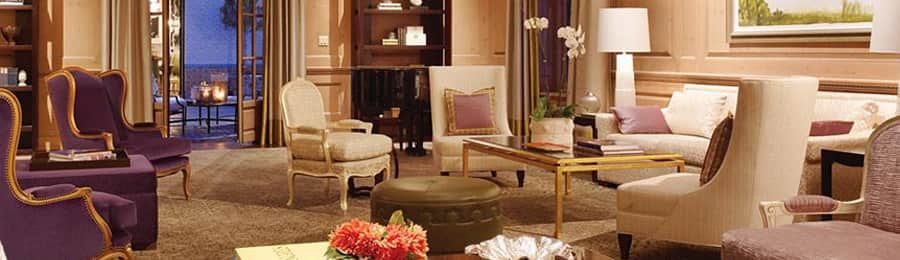 A cozy living area with upholstered chairs at The Fairmont San Francisco Hotel