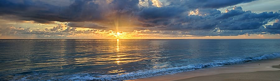 A sunrise over the Atlantic Ocean