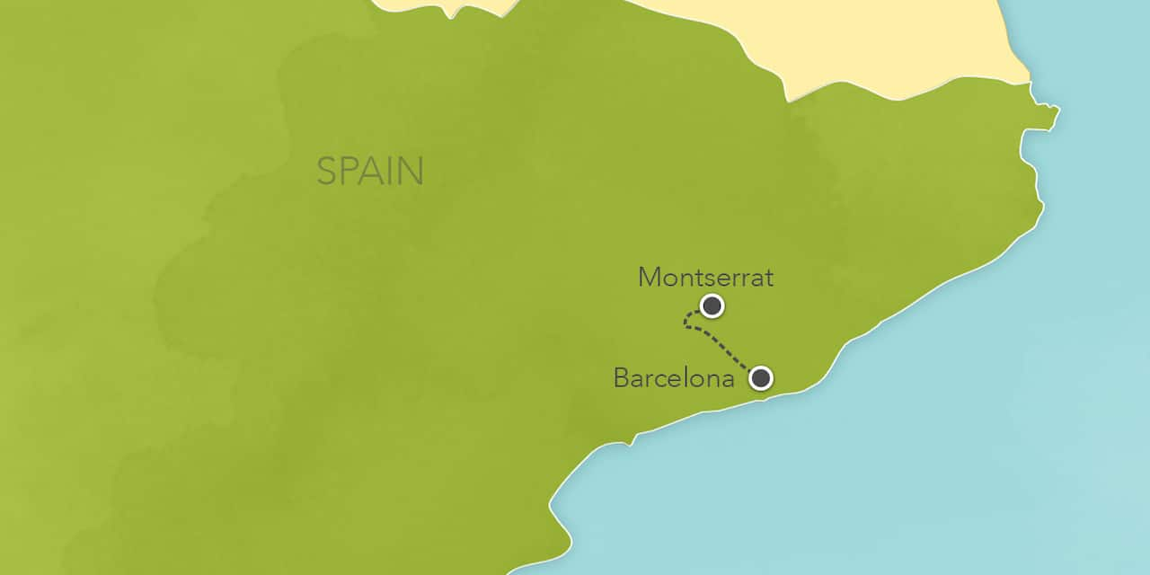 Interactive map ofBarcelona, showing a summary of each day's activities.