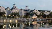Disney's Yacht Club Resort and a marina on Crescent Lake