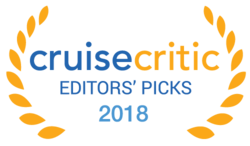 The Cruise Critic Award logo, which reads: 2018 Editors' Picks – Cruise Critic