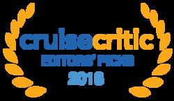 The Cruise Critic Award logo, which reads: 2018 Editors' Picks – Cruise Critic