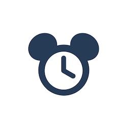 Un ícono de un reloj con Orejas de Mickey
