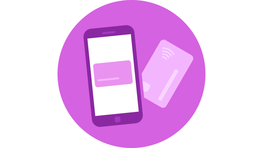 Contactless payments and interactions icon