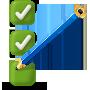 Pencil marking checklist icon