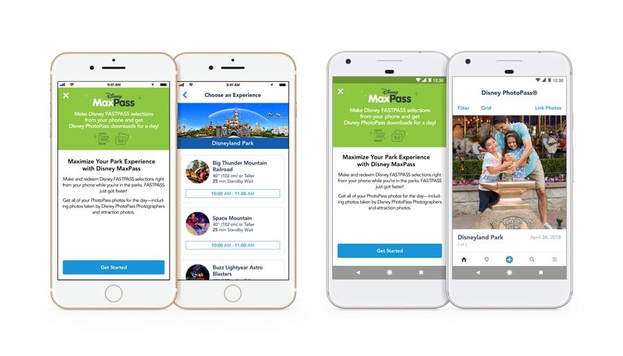 Screenshots of MaxPass App