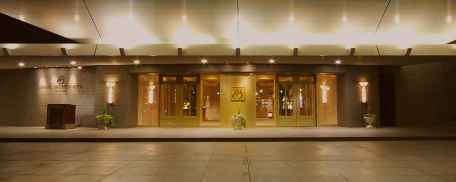 The entrance to Brighton Tokyo Bay hotel